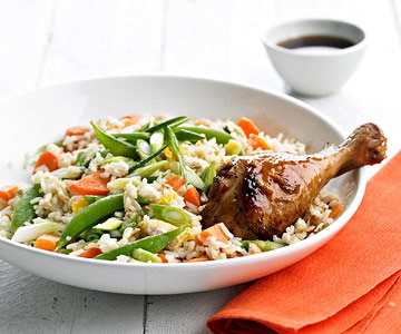 ASIA PACIFIC CUISINE- Gingered Chicken and Fried Rice